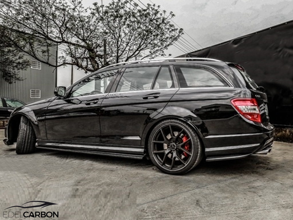 carbon seitenschweller f r mercedes benz c klasse c63 amg. Black Bedroom Furniture Sets. Home Design Ideas